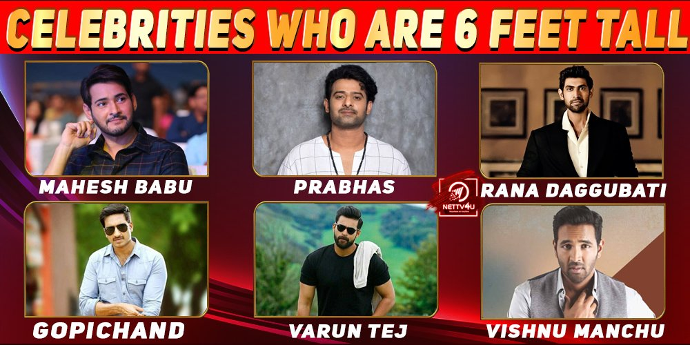Telugu Celebrities Who Are 6 Feet Tall
