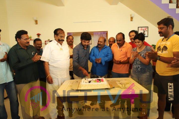 Actor Vemal Celebrate Is Birthday In Shooting Spot Tamil Gallery