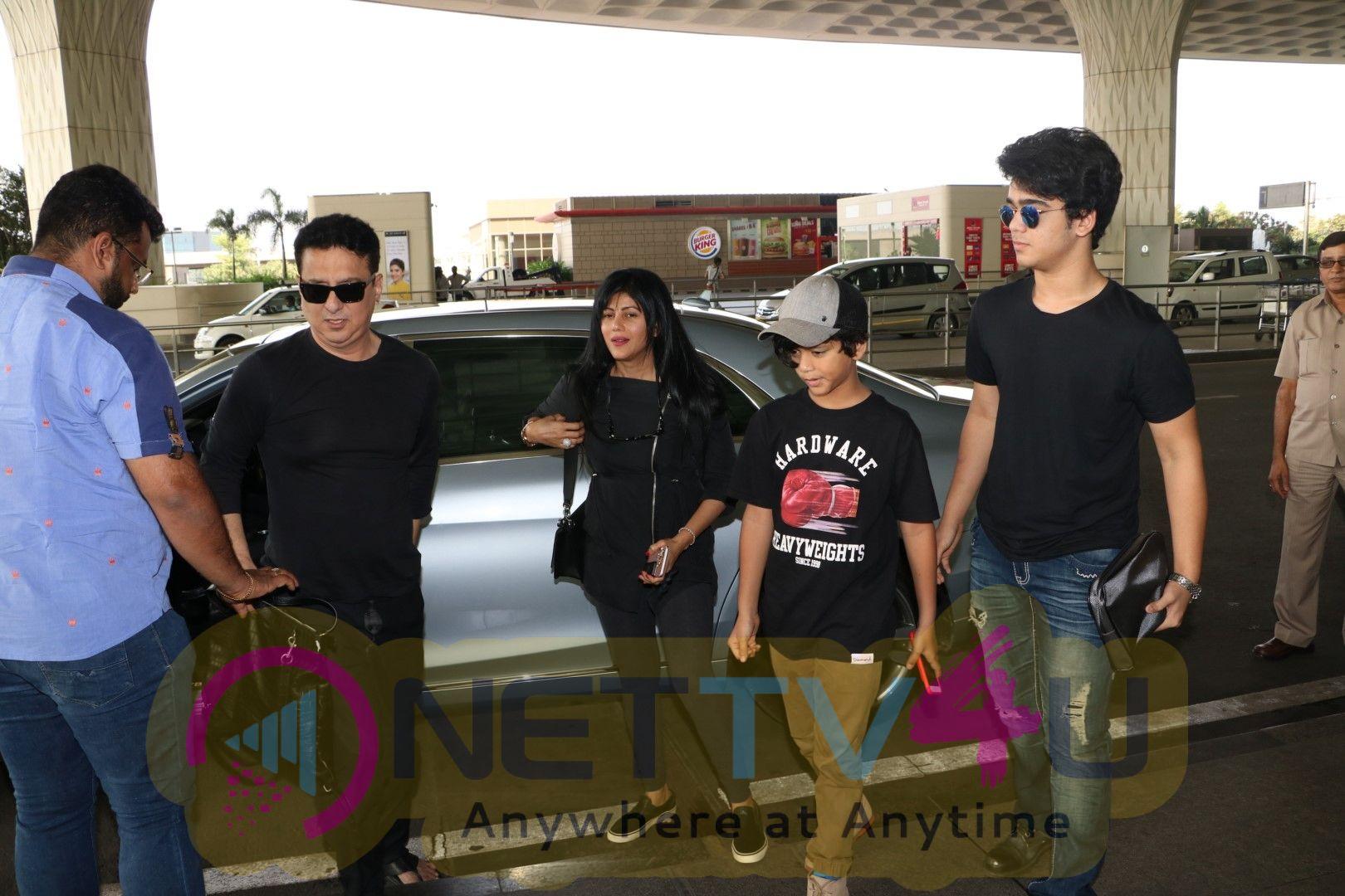 Sajid Nadiadwala & Her Family Spotted At Airport Images Hindi Gallery