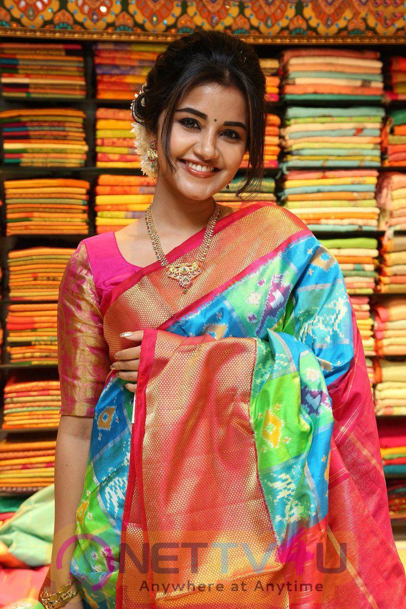 Actress Anupama Parameswaran charming Stills Telugu Gallery