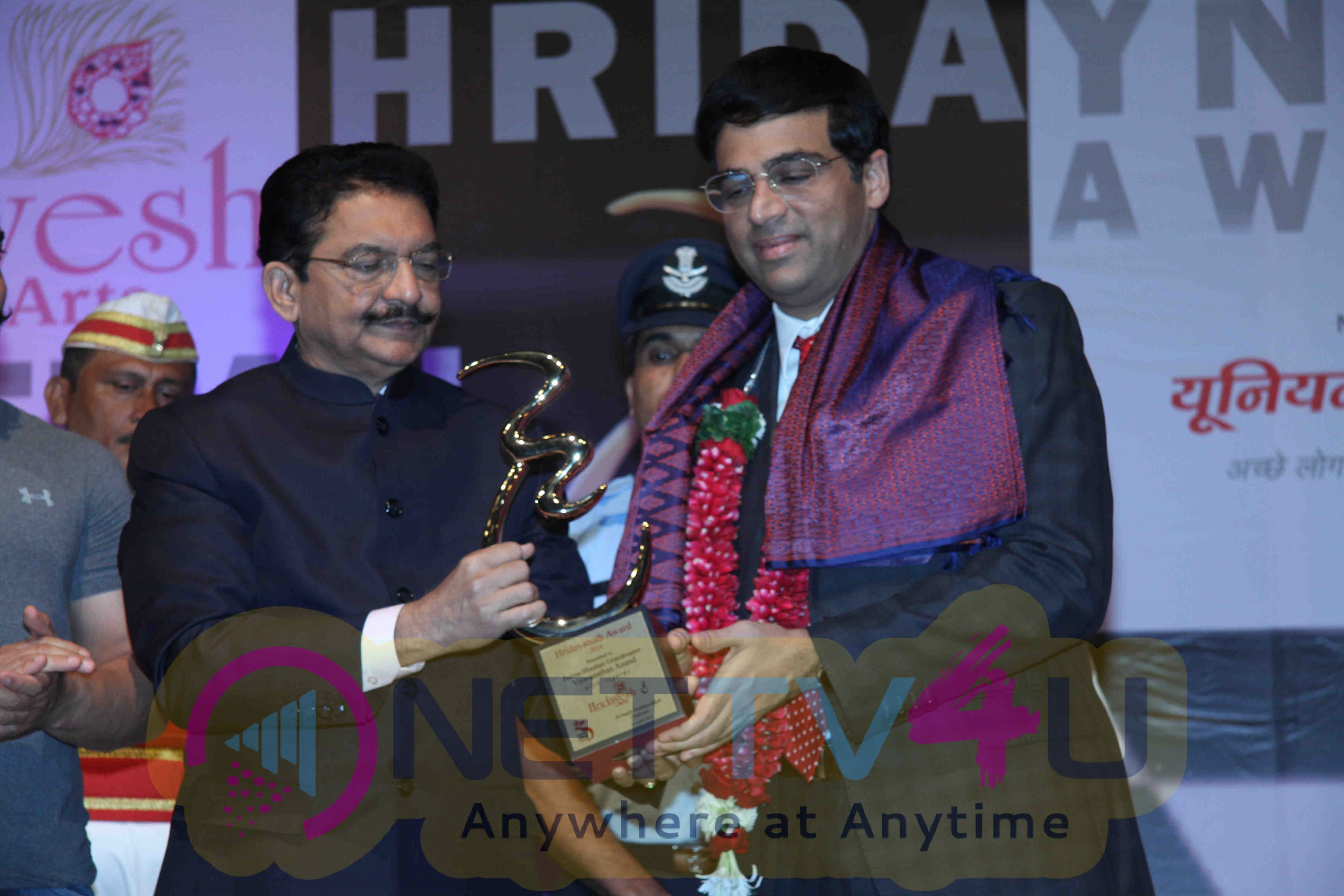 Aamir Khan And Vishwanathan Anand At Hridaynath Award 2016 Event Stills Hindi Gallery