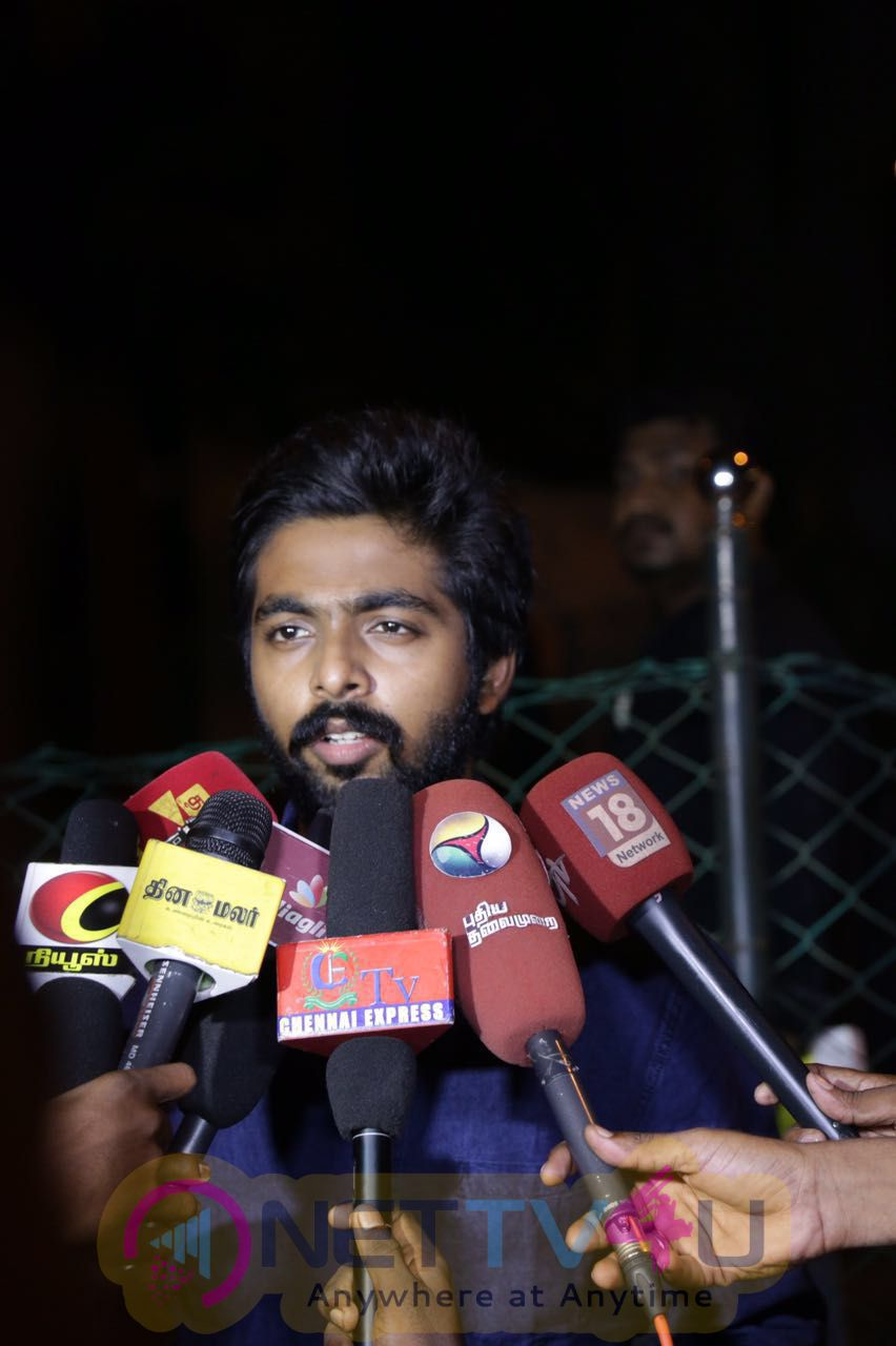 Actor GV Prakash Kumar Gave A Complaint Letter Reg Pencil Movie Piracy Issue Charming Photos Tamil Gallery