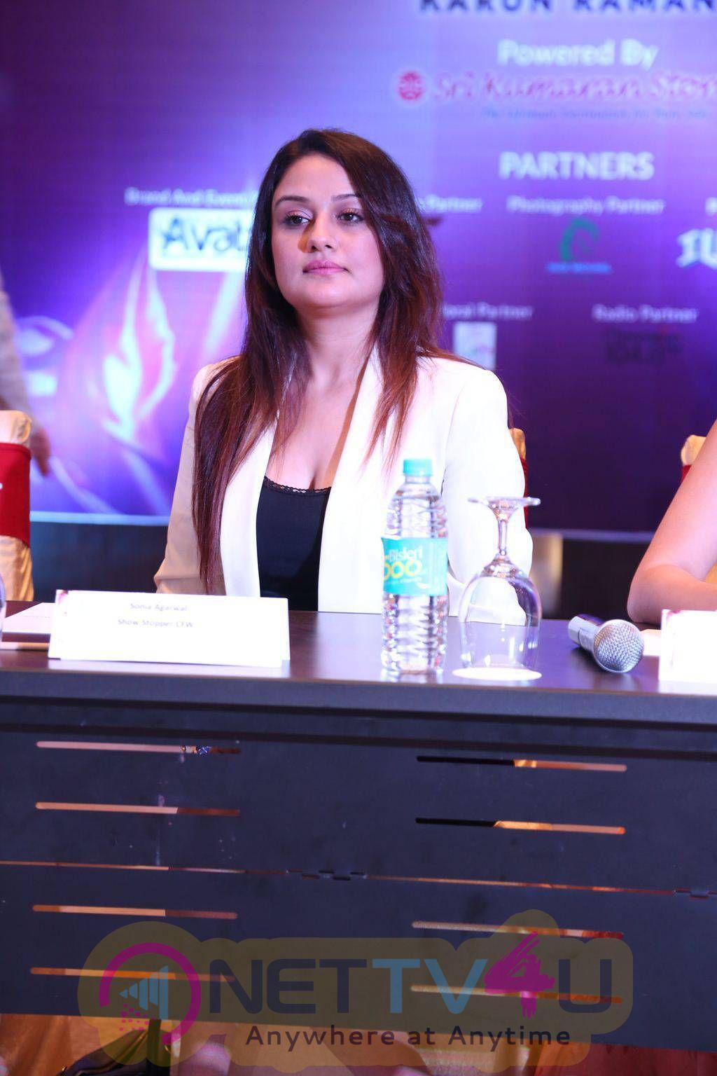celebrities stills at chennai fashion week 2015 press meet 1