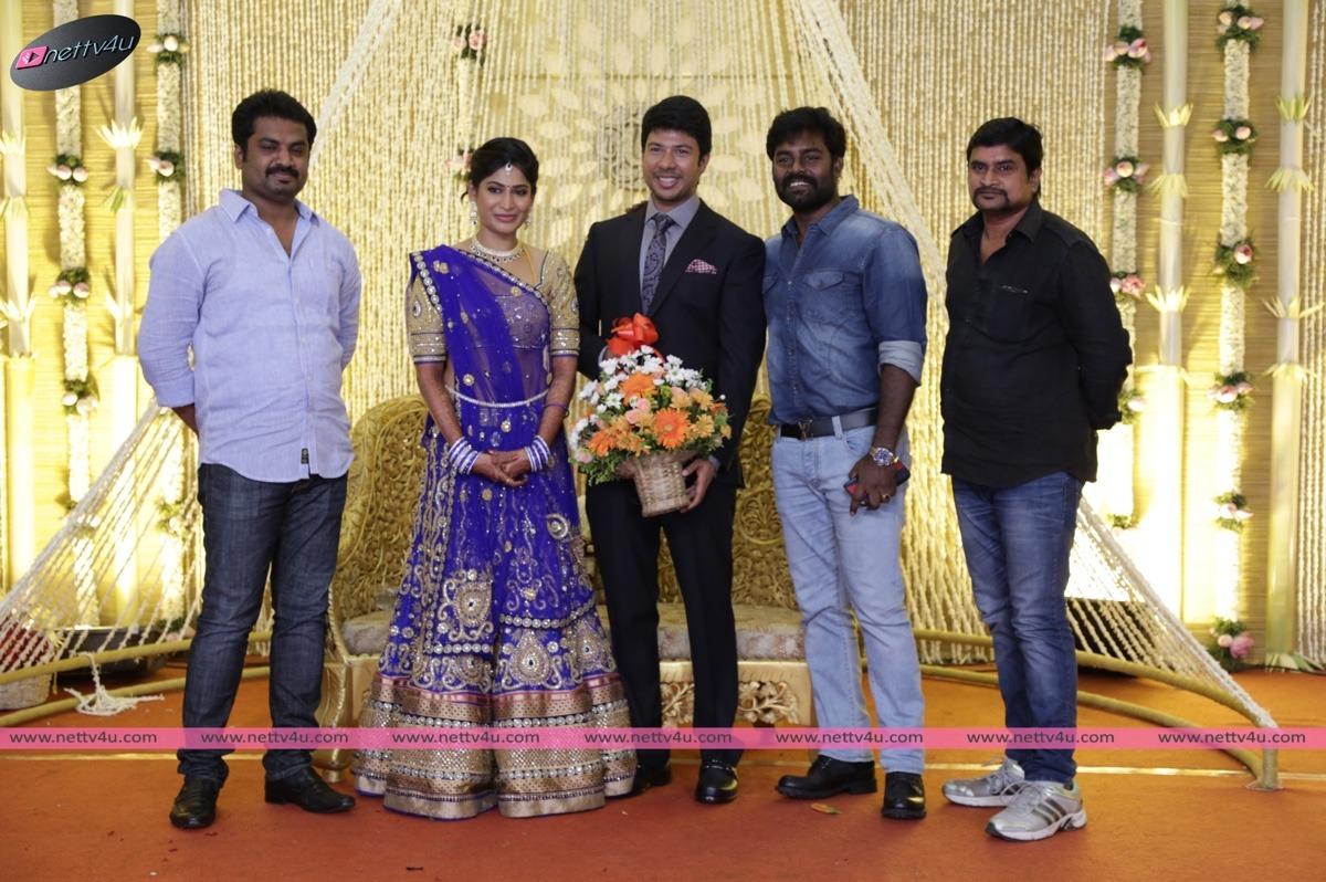 feroz vijayalakshmi wedding reception stills 01