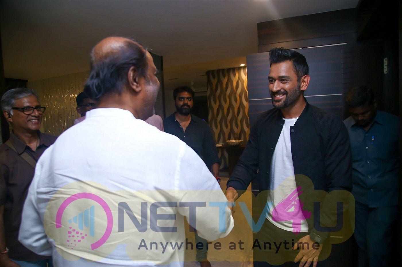 Mahendra Singh Dhoni Meet Rajinikanth Press Meet Photos Tamil Gallery