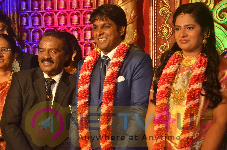 Producer Vinoth Kumar & Sindhu Wedding Reception Photos Tamil Gallery