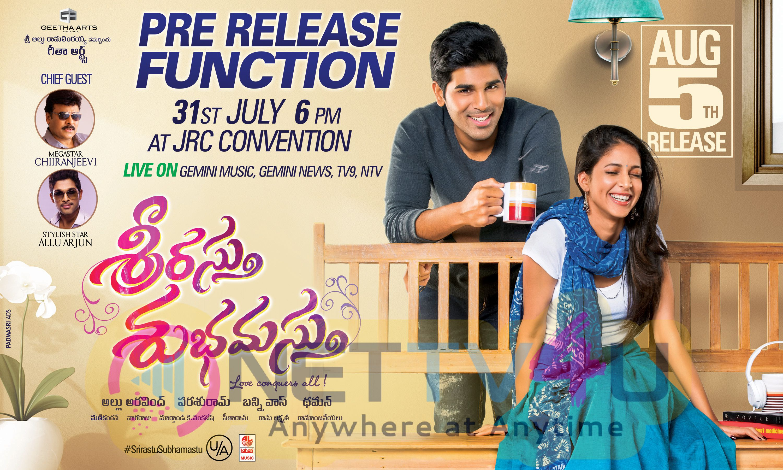 Telugu Movie Srirastu Subhamastu Pre Release Function Poster Telugu Gallery