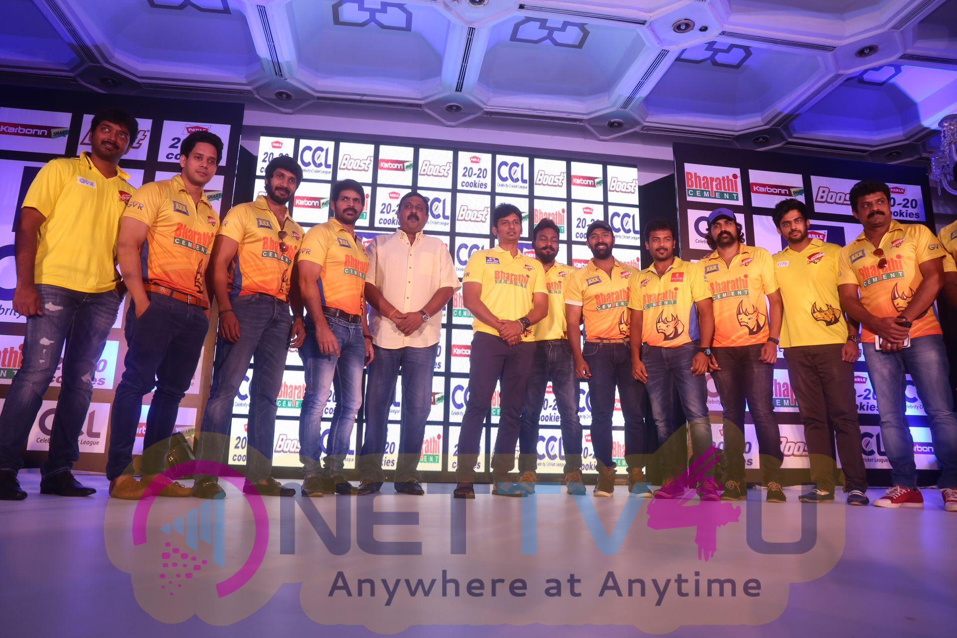 ccl season6 chennai press meet images 11