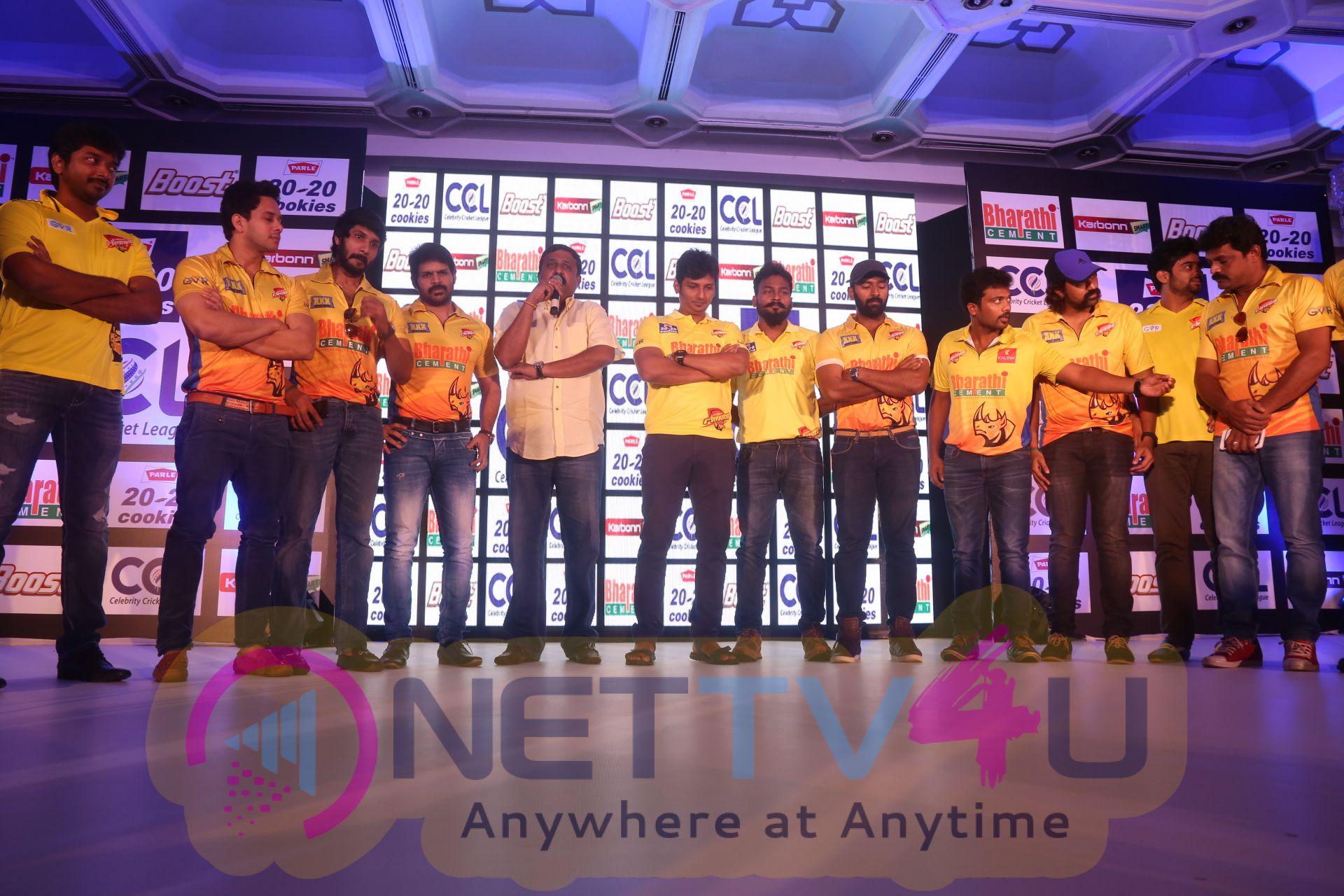 ccl season6 chennai press meet images 14