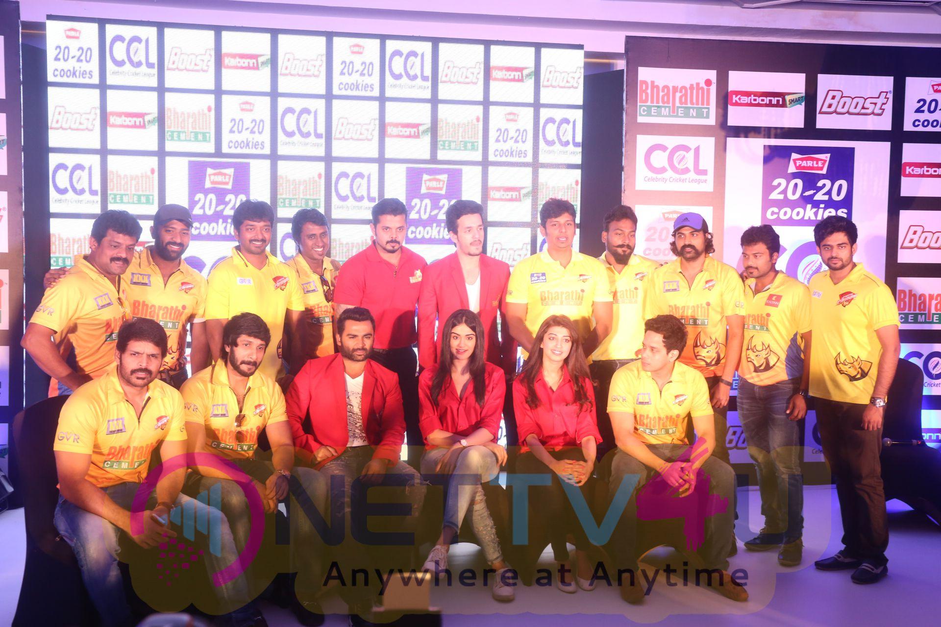 ccl season6 chennai press meet images 7