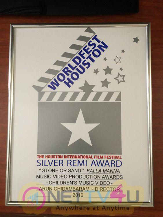 Kanavu Variyam  Wins 2 Prestigious Remi Awards Exclusive Photos