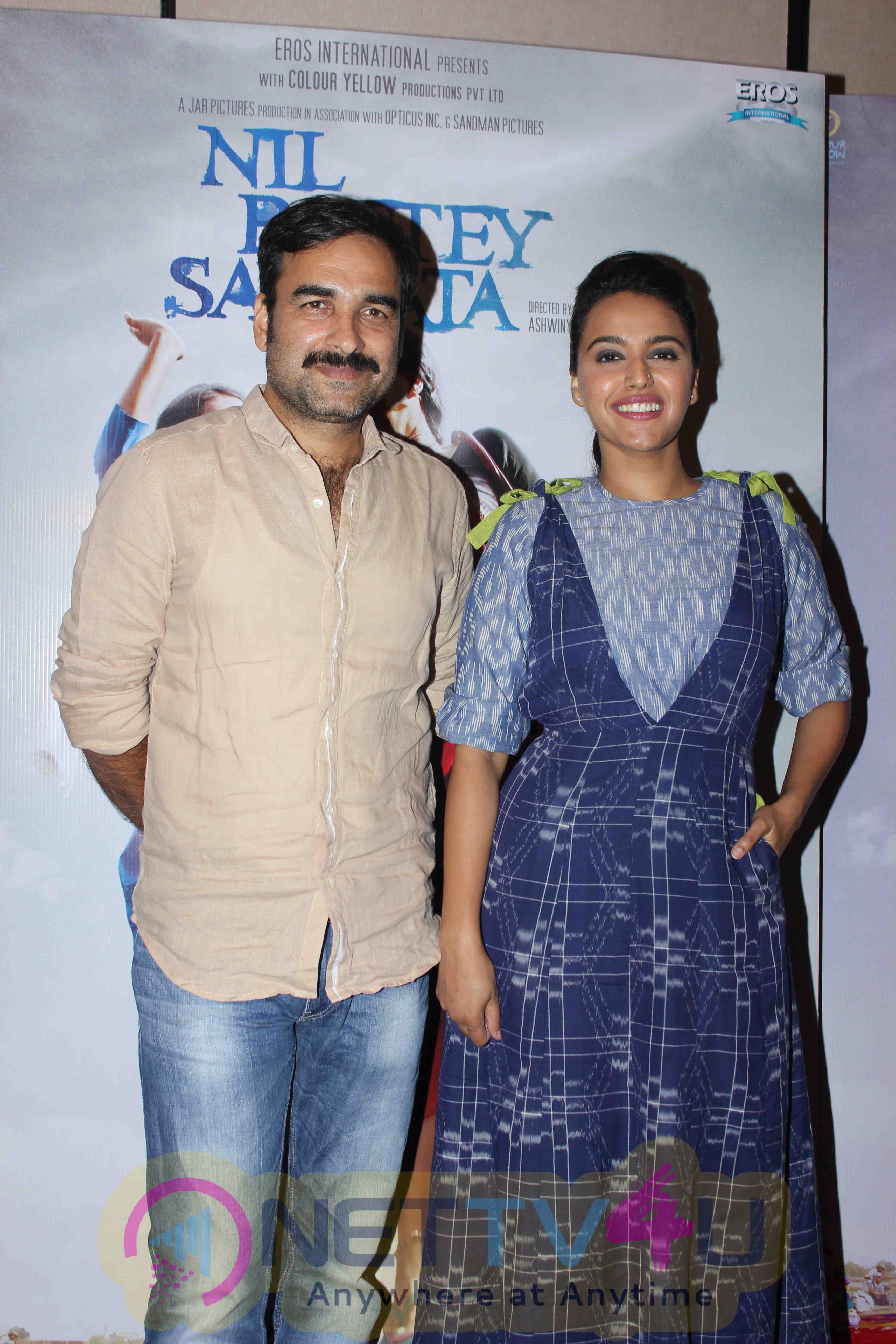 Pankaj Tripathi And Swara Bhaskar At Ffilm Nil Battey Sannata Pressmeet Stills