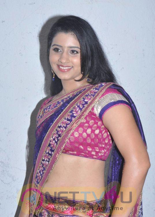 Tamil Actress Darshita Hot Saree Stills