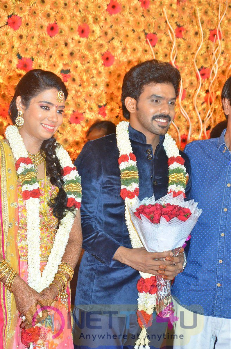 Actor Singamuthu Son Wedding Reception Photos