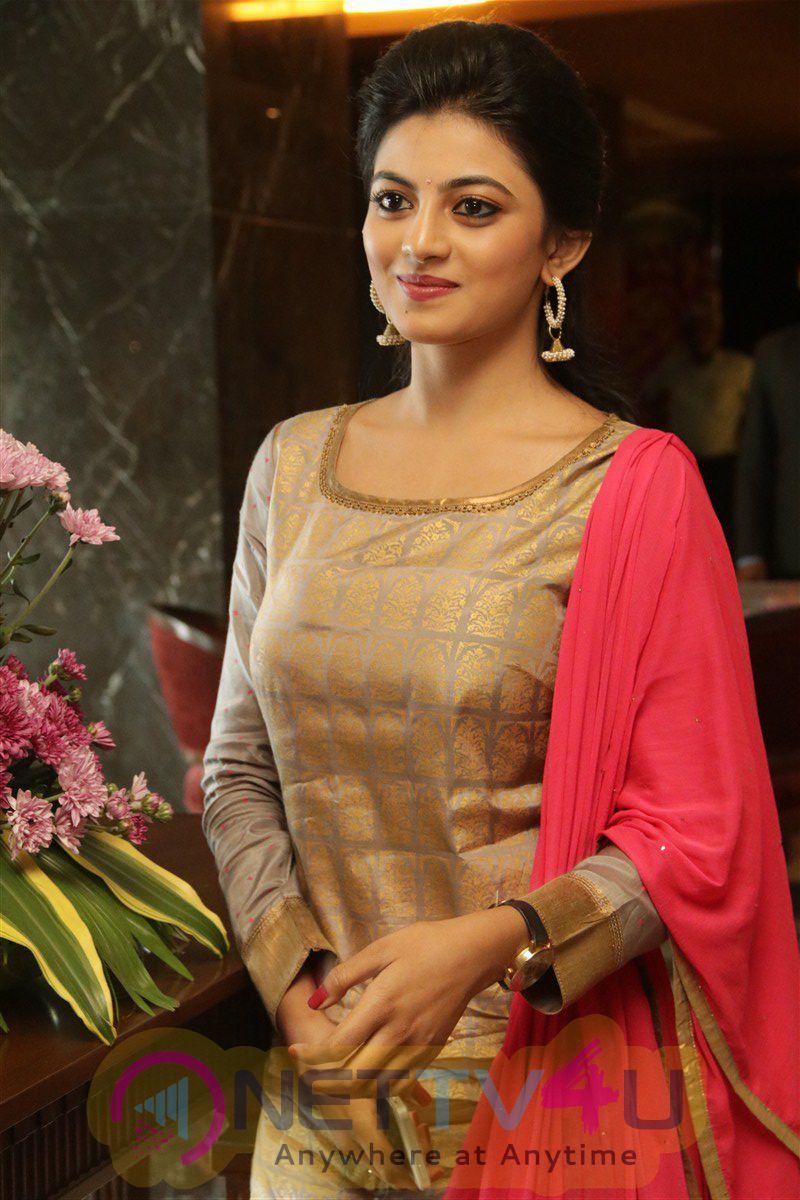 Anandhi Beauteous Stills At Enakku Innoru Per Irukku Movie Press Meet