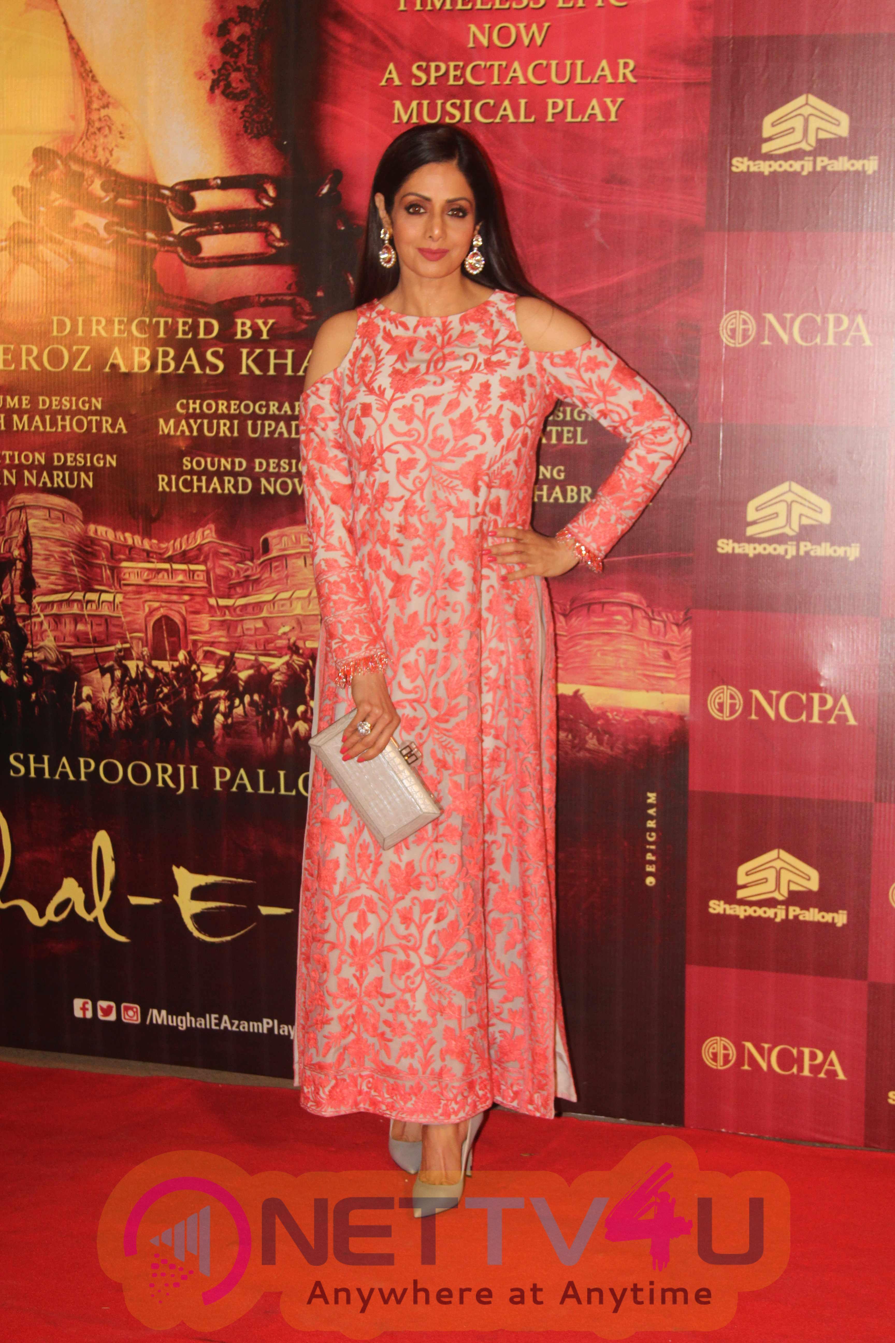 Bollywood Celebs At Red Carpet Of Musical Play Mughal E Azam Stills