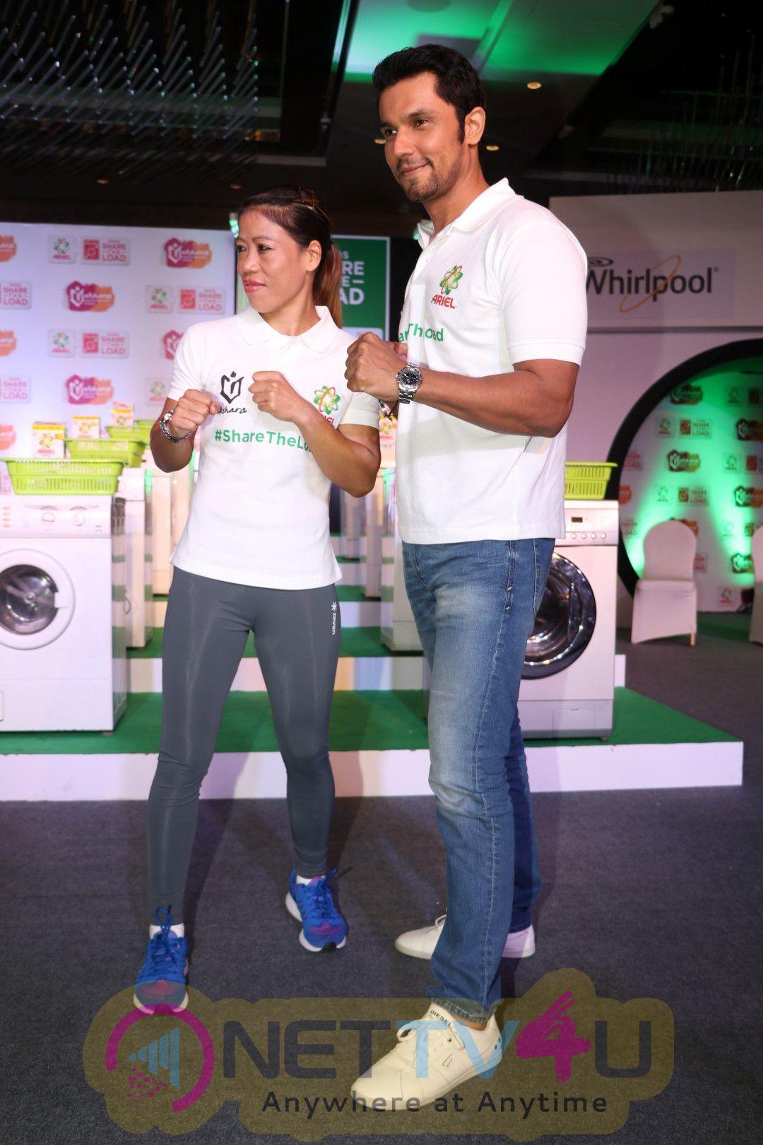 Launch Of Be The Change With Randeep Hooda , Mary Kom & Onler Kom Photos