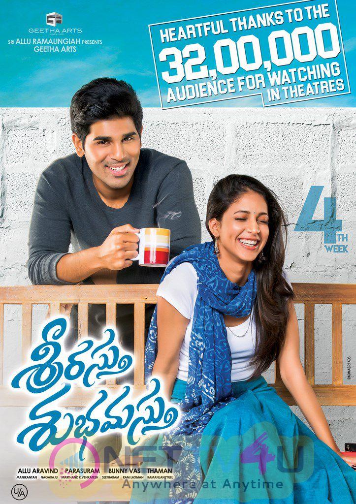 Srirastu Subhamastu Telugu Movie 4th Week Posters
