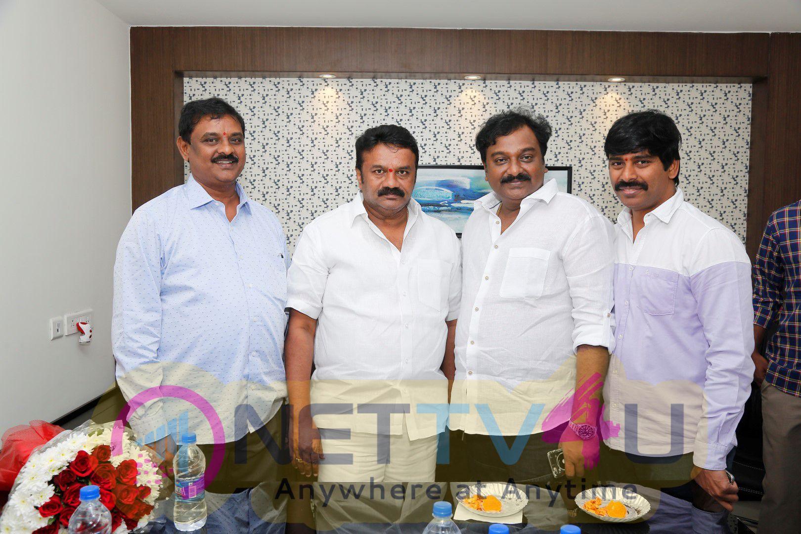 V.V. Vinayak And Talasani Srinivas Yadav Opens A New Office For Krishna Movie Producer B. Kasi Vishwanandham Delightful Pics