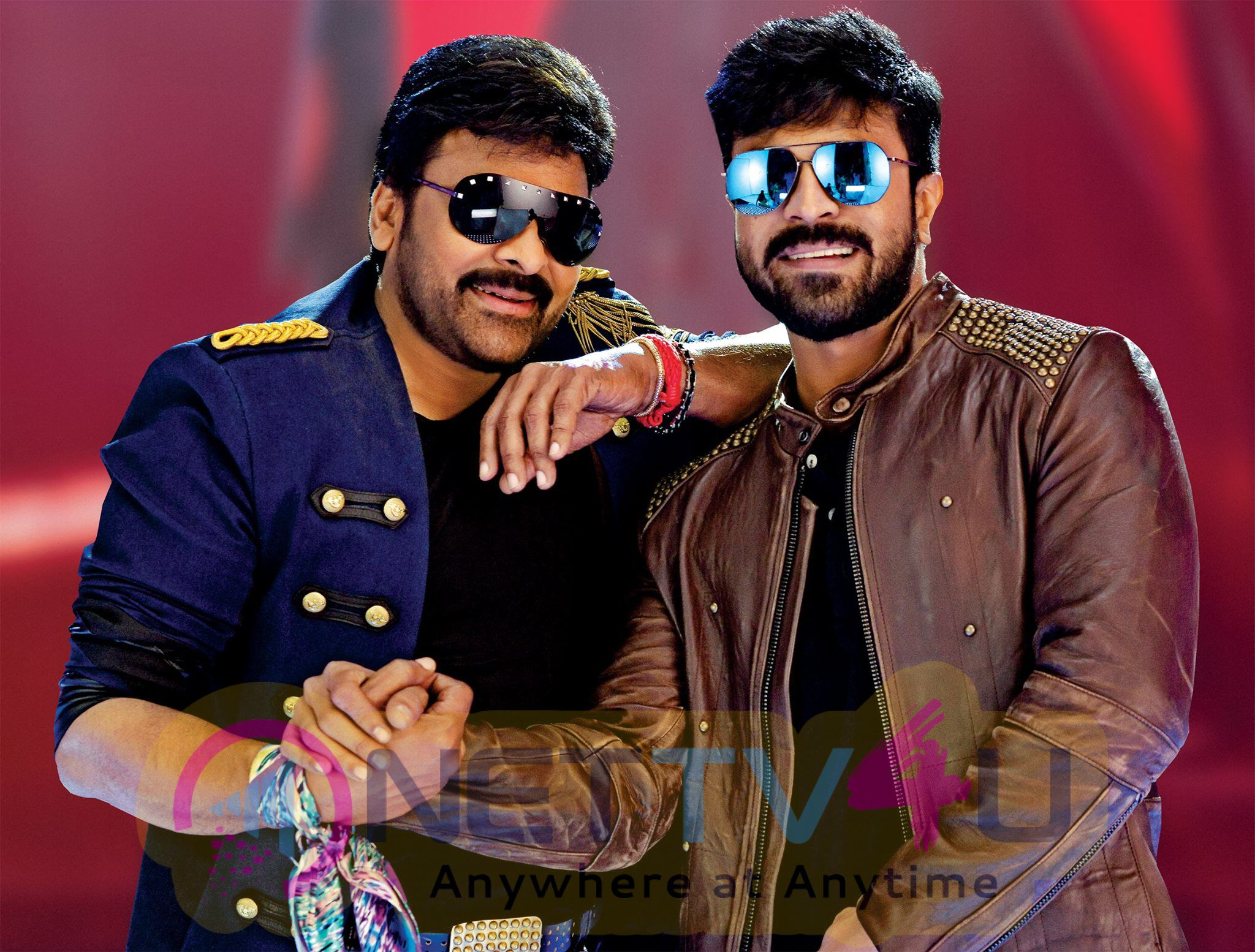 Chiranjeevi And Ram Charan Released 50 Days Of Khaidi Movie  Photos