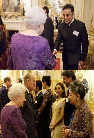 Kamal Haasan In Buckingham Palace With Queen El..