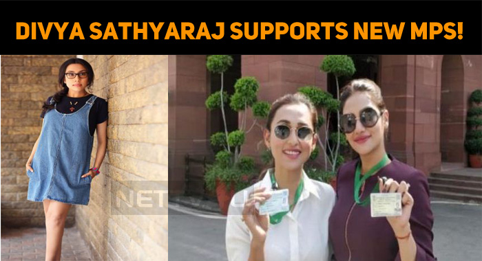 Divya Sathyaraj Lends A Helping Hand To New MPs!