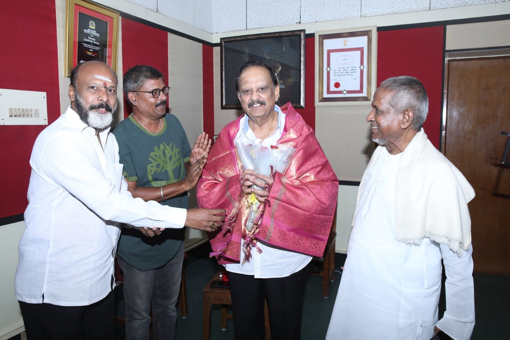 Legends Joins In Tamilarasan Movie Songs Recording Images Tamil Gallery