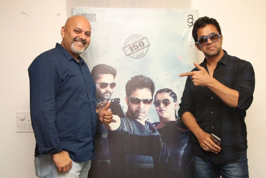 Arjun And Team Thank The Media For Nibunan's Success!