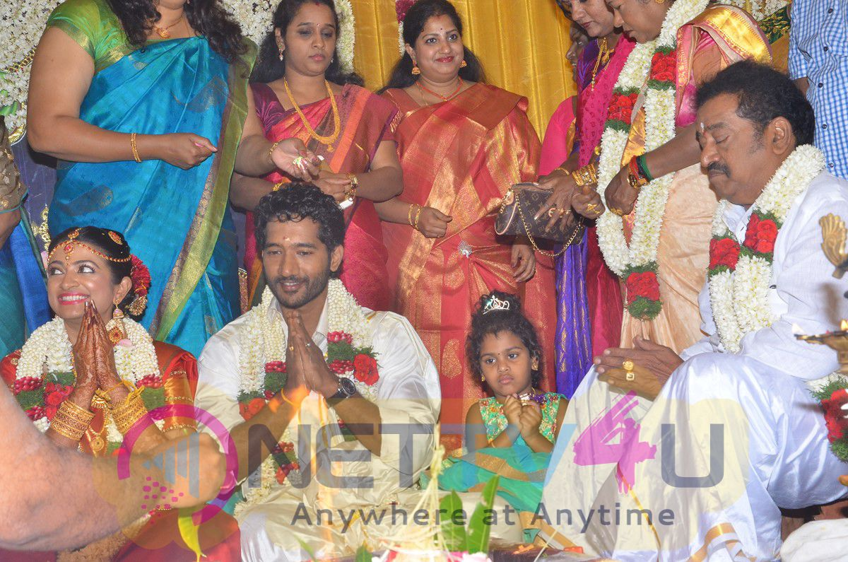 Actor Pandu Son Pintu Wedding Beauteous Photos