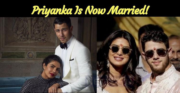 Priyanka Is Now Married!