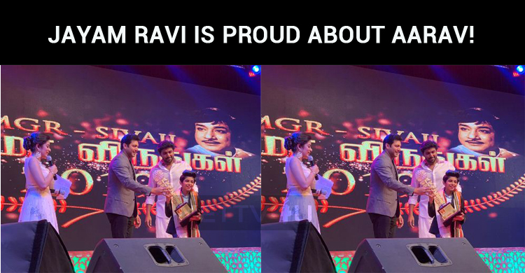 Jayam Ravi Is Proud About His Kid Aarav!