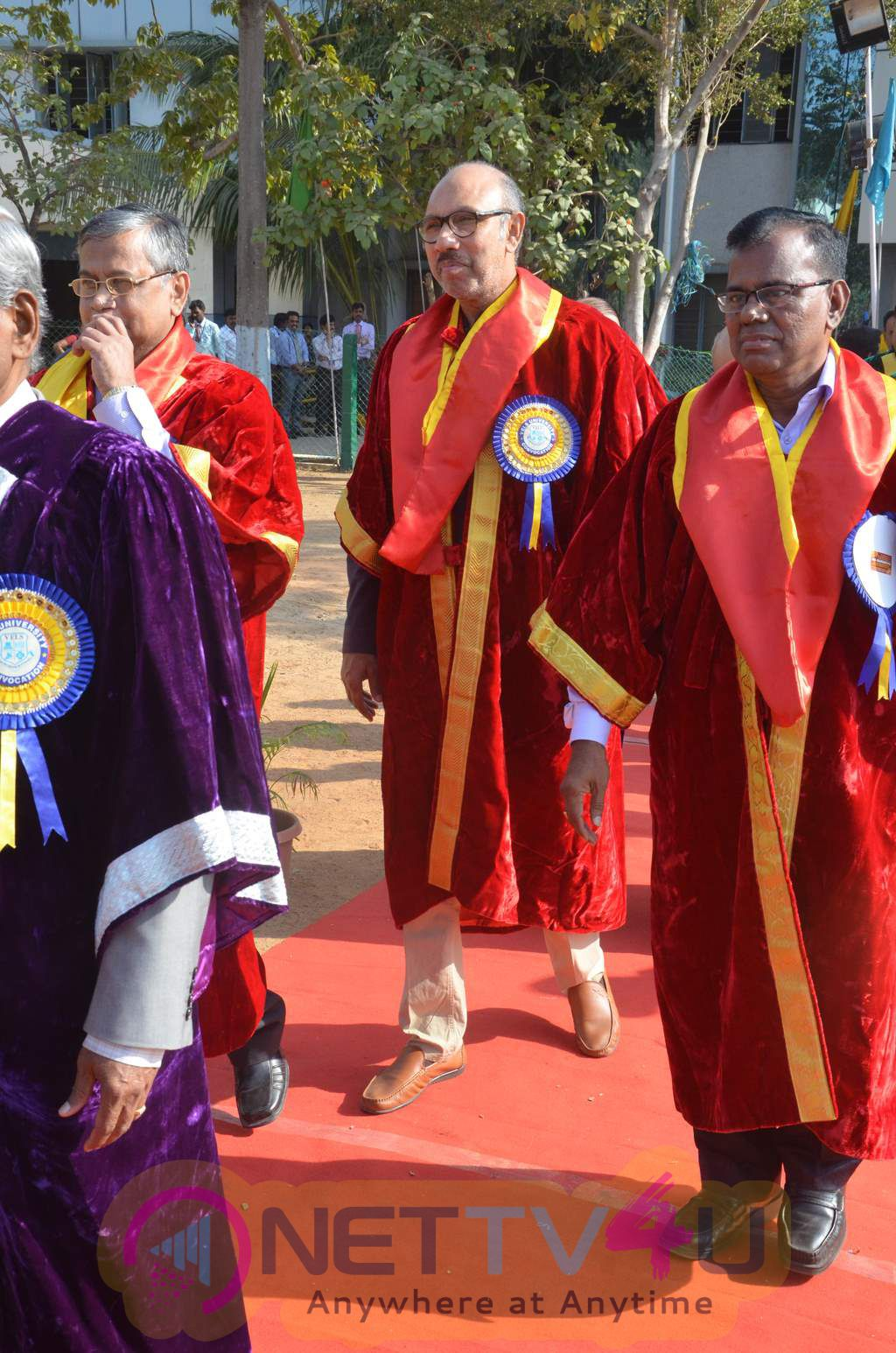 Actor Sathyaraj Receives Doctorate From Vels University Cute Photos