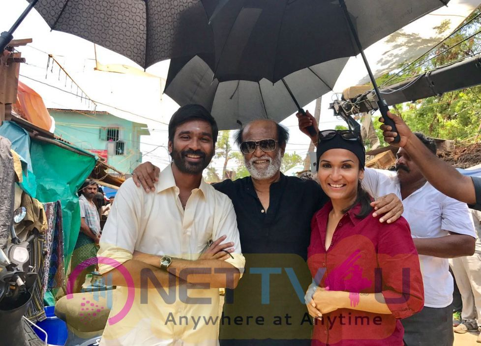 Stills Of Superstar Rajinikanth Surprise Visit To VIP2 Last Day Shoot