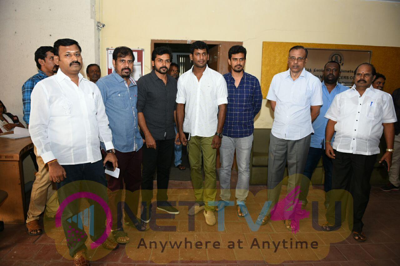Tamil Film Producer Council Press Meet Stills