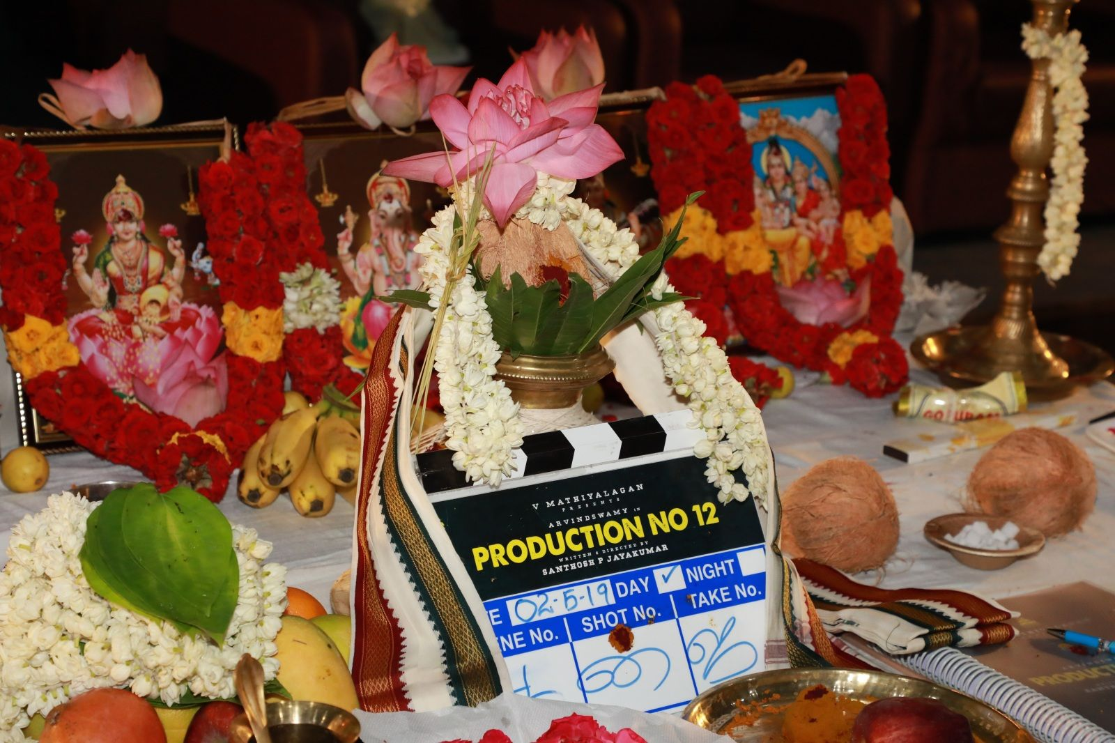 Arvind Swamy New Movie Pooja Pics Tamil Gallery
