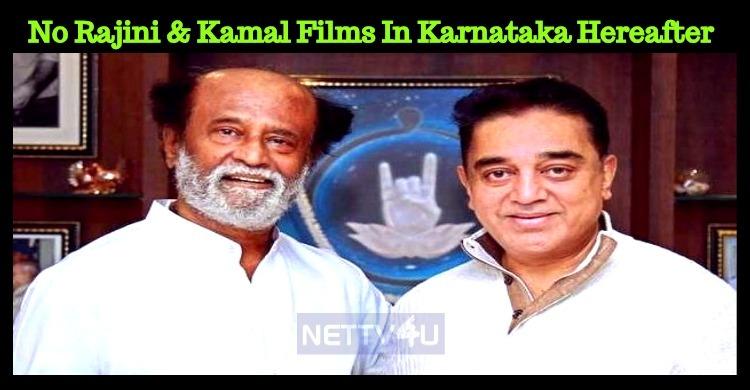 No Rajini And Kamal Films In Karnataka Hereafter – Sa Ra Govindu