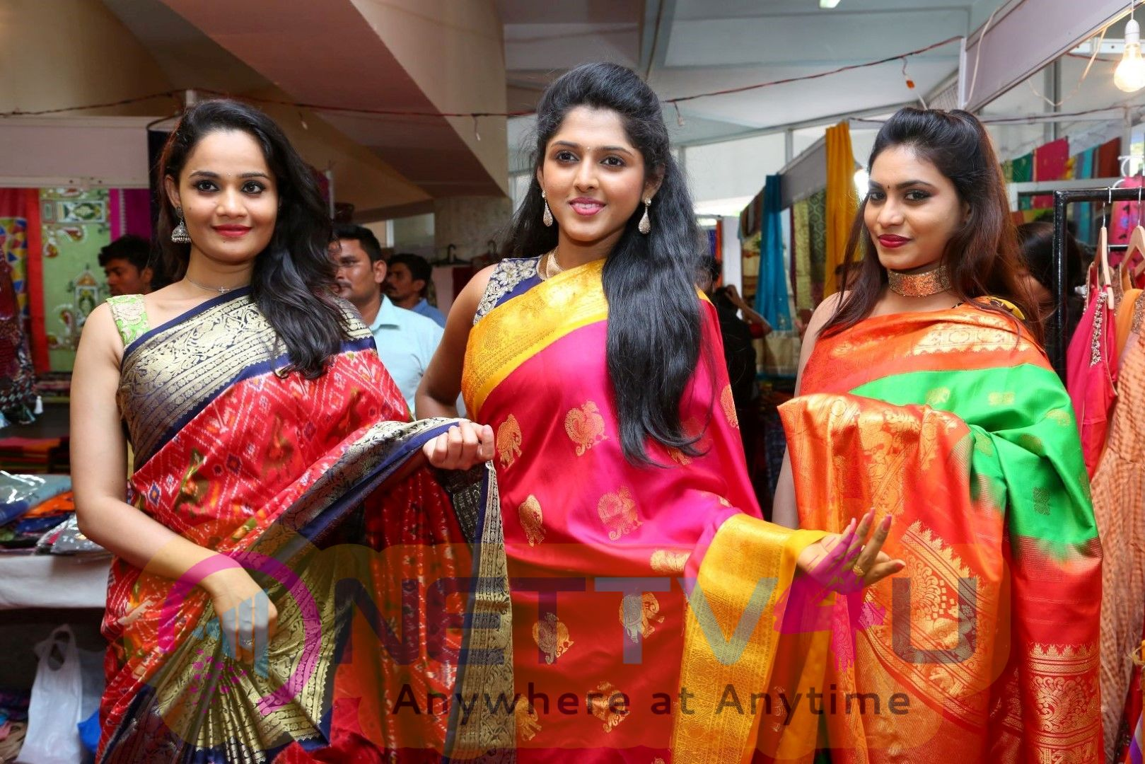 Tollywood Celebrities At National Silk Expo Event Images