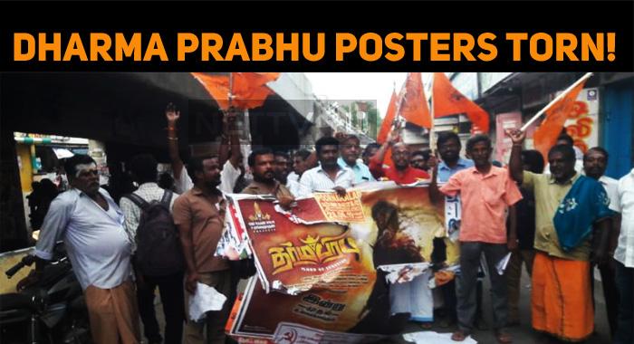 Dharma Prabhu Posters Torn!