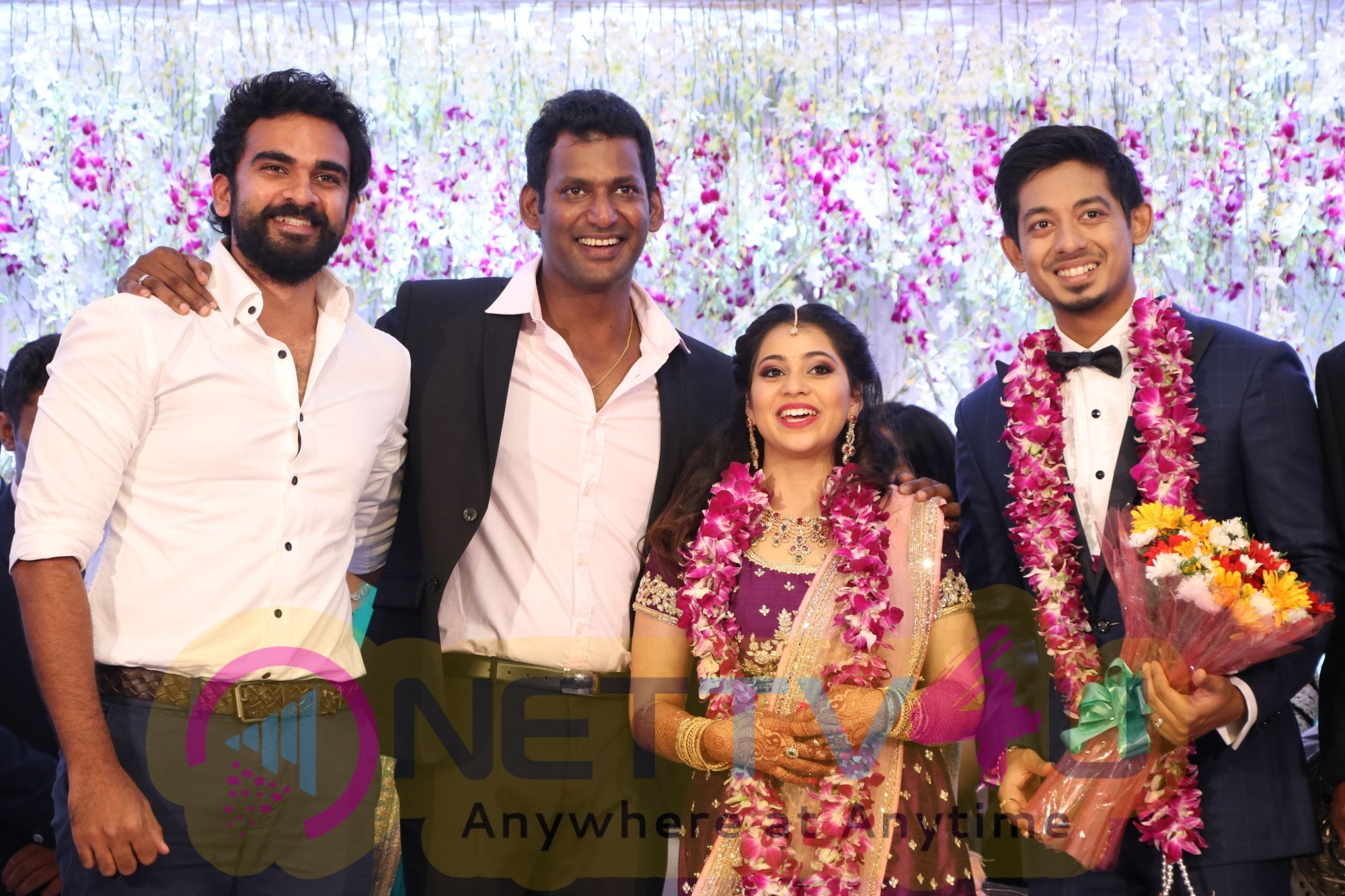 TFPC President, SIAA General Secretary Vishal 's Sister Aishwarya Reception Photos Tamil Gallery