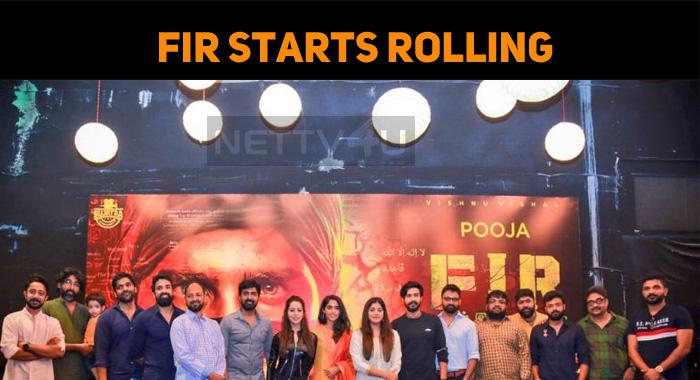 Vishnu Vishal's FIR Started Rolling!