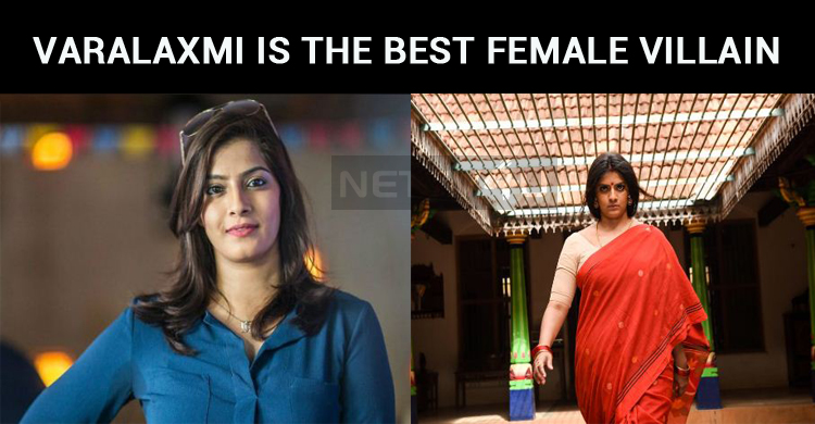 Varalaxmi Sarathkumar Gets The Best Female Villain Award From Vikatan!