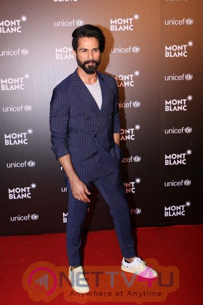 Red Carpet Of Montblanc Unicef With Shahid Kapoor & AB De Villiers