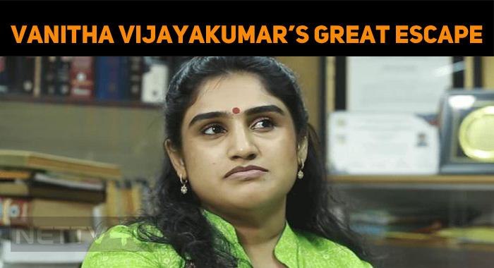 Vanitha Vijayakumar's Child Favors Her Mommy!