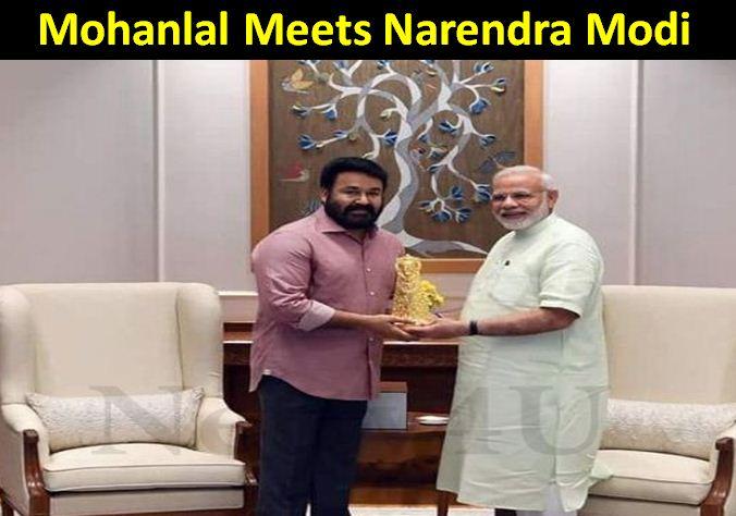 Mohanlal Met Narendra Modi!