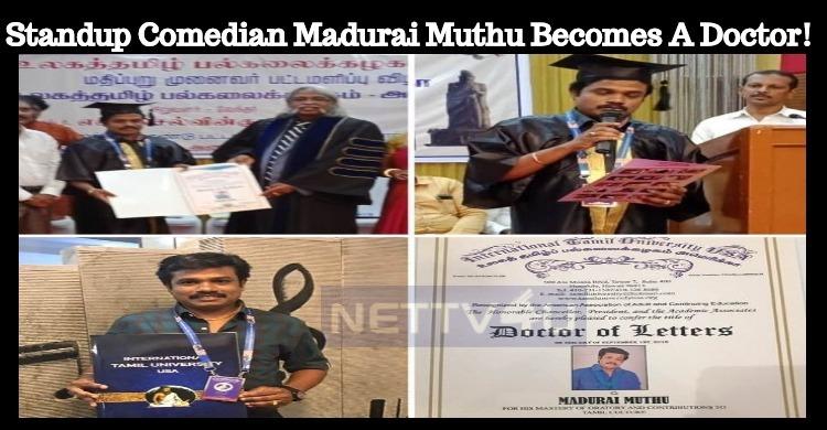 Standup Comedian Madurai Muthu Becomes A Doctor..