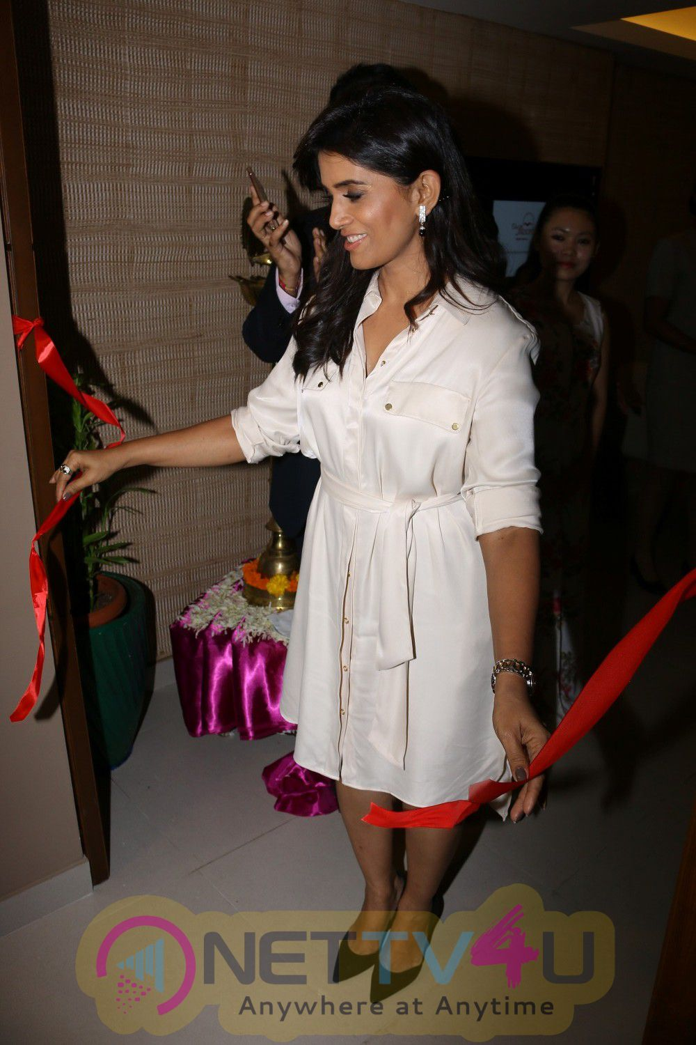 Renowned Actress Sonali Kulkarni At Launch Of Premium Spa Excellent Stills Hindi Gallery