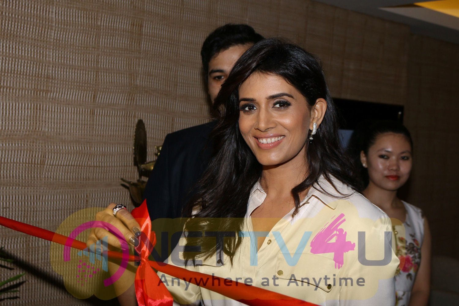 Renowned Actress Sonali Kulkarni At Launch Of Premium Spa Excellent Stills