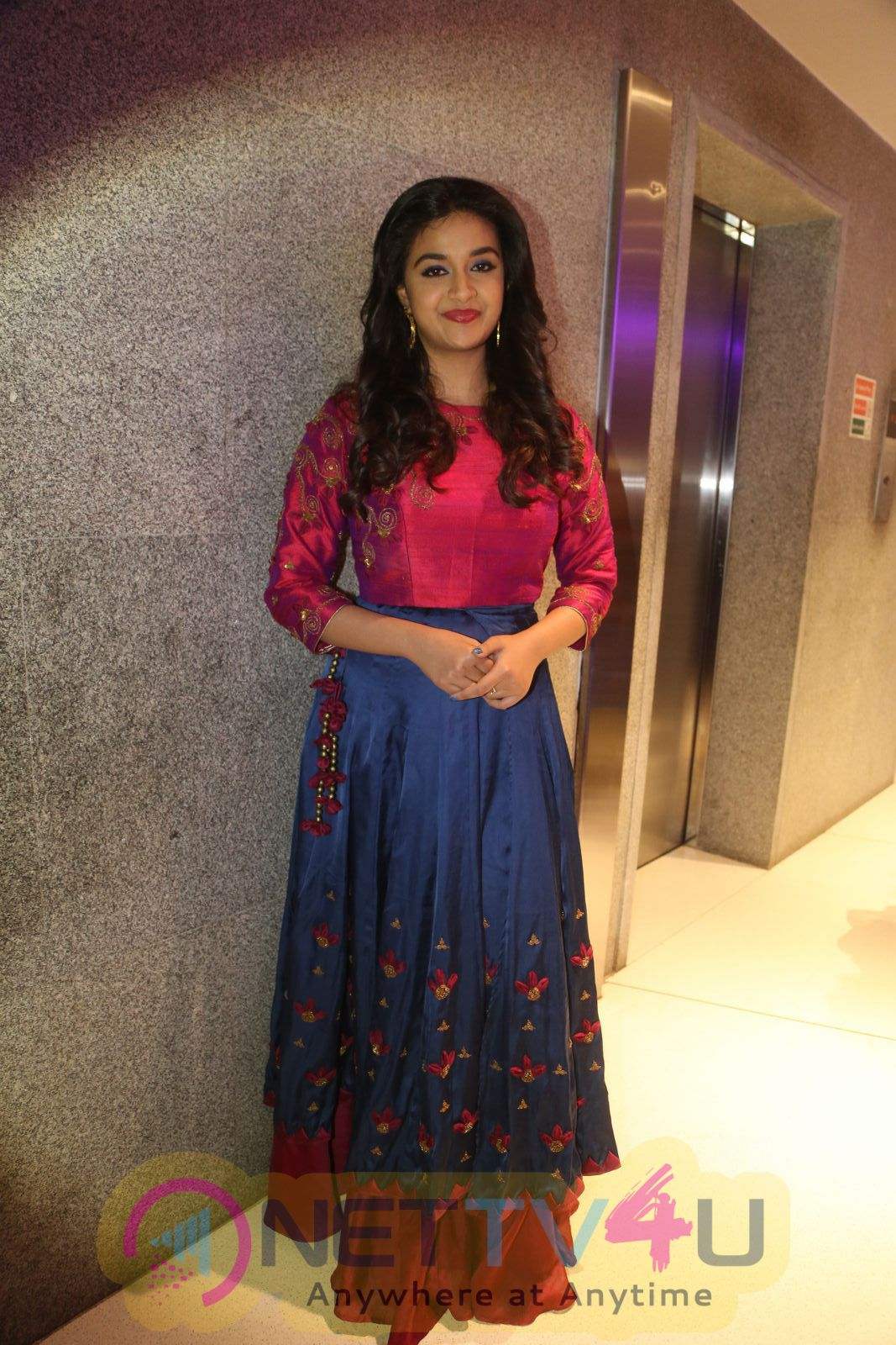 Actress Keerthy Suresh At Remo Movie Success Meet Lovely Pics