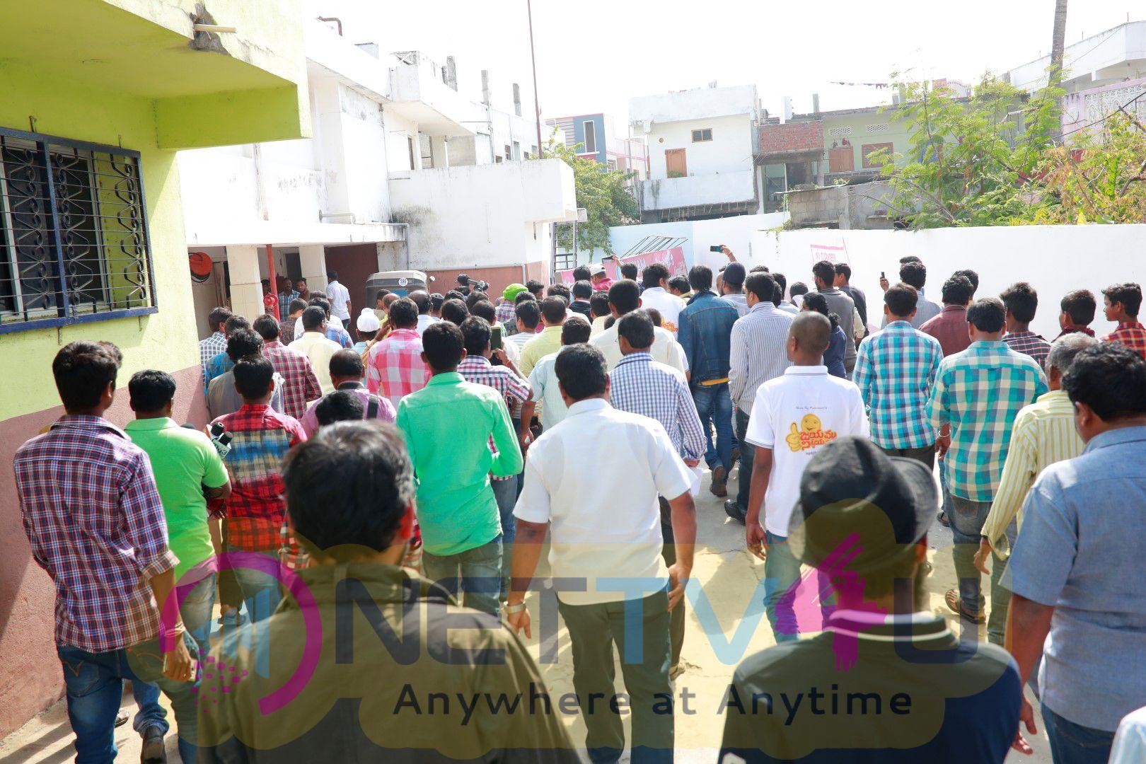Jayammu Nischayammu Raa  Movie Success Tour Photos