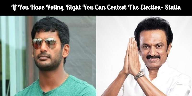 Stalin And Thirumavalavan Opine Vishal's Political Entry!